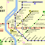 Budapest, Mappa della Metropolitana