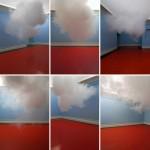 Berndnaut Smildeasper riproduce una vera nuvola in un museo