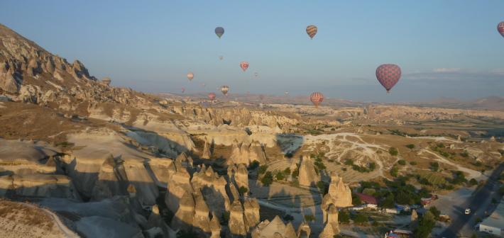 Un viaggio in mongolfiera: Il Deserto di Cappadocia, Turchia