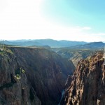 This photo really shows how high the bridge is and how deep the canyon goes.
