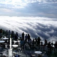 La terrazza che si affaccia sulle Nuvole, in Giappone