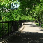 Pathway (near Jacqueline Kennedy Onassis Reservoir) Central Park, Manhattan.