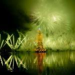 L' albero di Natale galleggiante più grande del mondo a Rio de Janeiro
