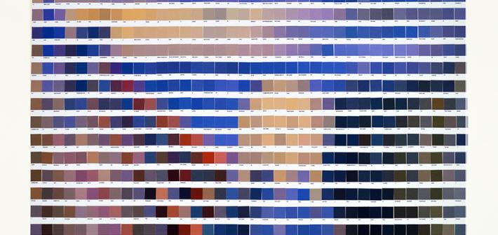 Le opere d'arte realizzate con i colori Pantone